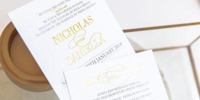 Nicholas & Daniella Invitation